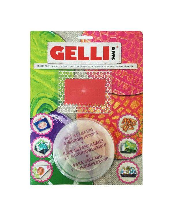 "3"" Round Mini Kit - Mini Gelli Printing Plate"