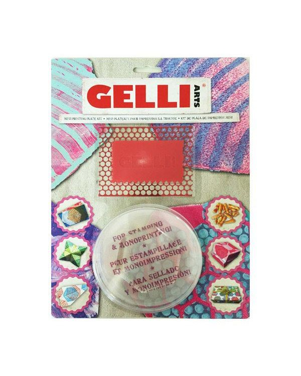 "3"" Hexagon Mini Kit - Mini Gelli Printing Plate"