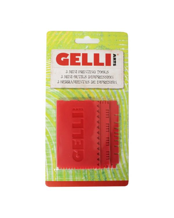 Mini Printing Tools set of 3 - Gelli Printing Tool