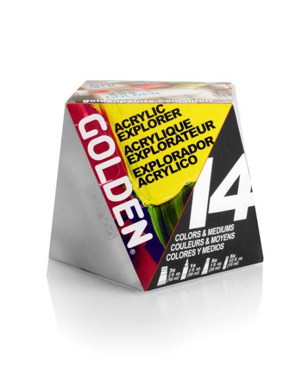 Golden A-Z set (14 pieces) Acrylic Explorer