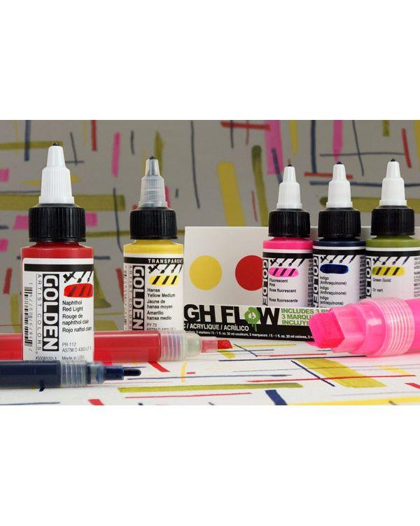 High Flow Marker Set 5 colours & 3 markers - Golden