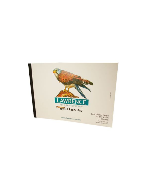 A4 250gsm Bristol Paper Pad - 20 sheets - Lawrence