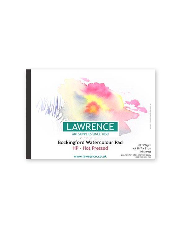 HP - A4 Lawrence Pad - 300gsm - Bockingford Watercolour Glued Pad