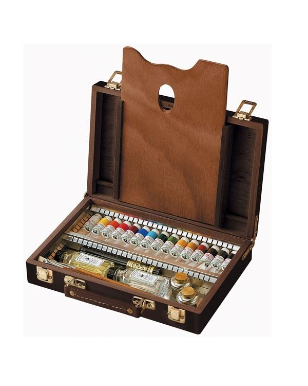 15 x 18ml colours in Wooden Box - Old Holland Oil Set