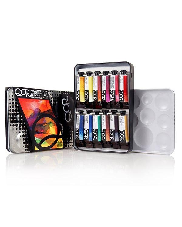 Intro Set 12 x 5ml tubes - QOR Watercolour Sets - Golden