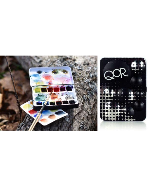 Mini Half Pan Set x 12 Half Pans - QOR Watercolour Sets - Golden