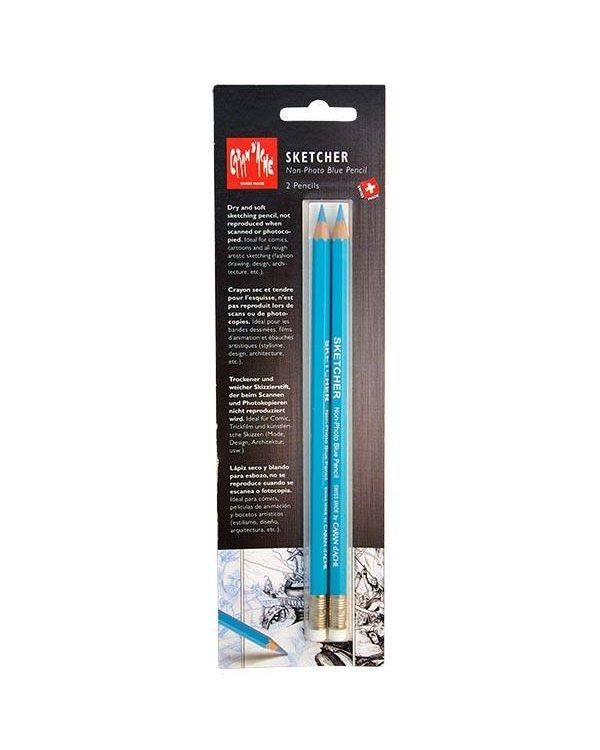 Sketcher non-photo blue pencils set of 2 - Caran d'Ache