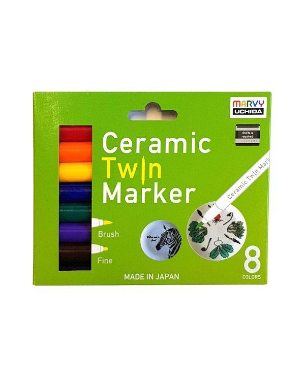 Marvy Uchida Ceramic Twin Marker Det (8) Primary