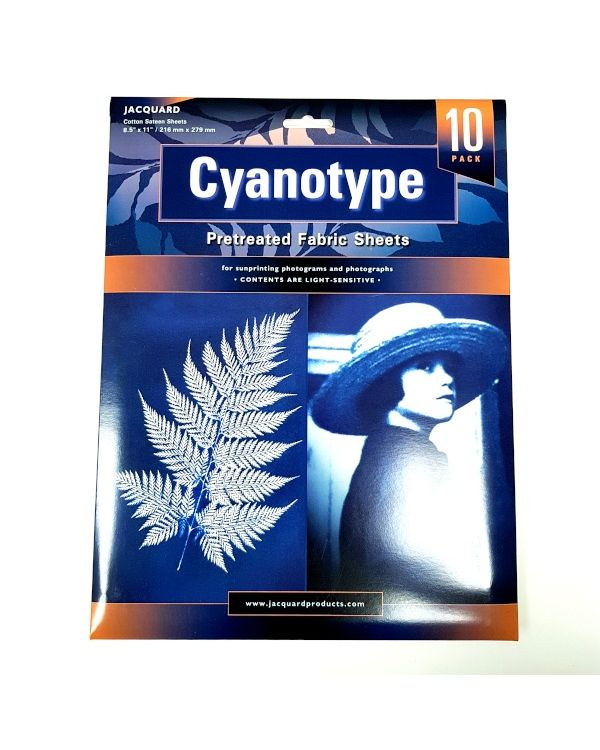 Cyanotype Fabric Sheets Pack of 10 - Jacquard