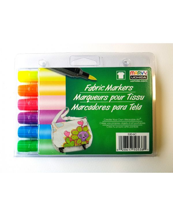 Marvy Uchida Fabric marker set (6) Luminous