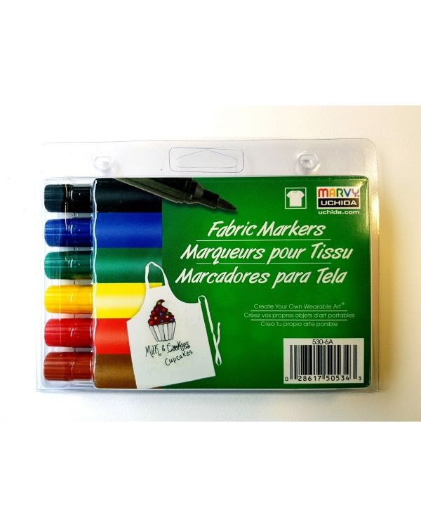Marvy Uchida Fabric marker set (6) Primary