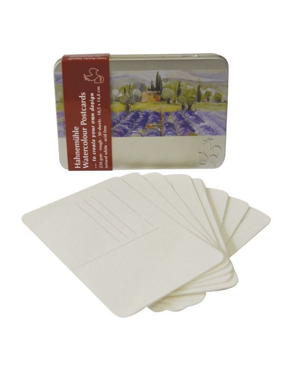 Hahnemühle tin of watercolour postcards x30 sheets