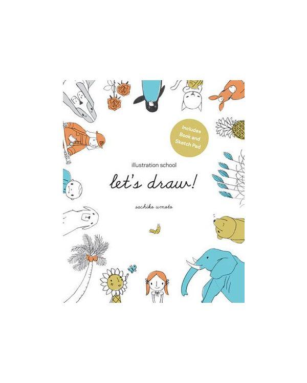 Illustration School: Lets Draw (Books & Sketchpad)