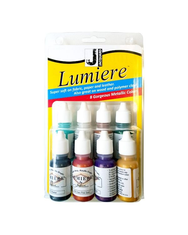 Mini Exciter Pack Jacquard Lumiere (8 x 14ml bottle set) Metallics (JAC9920)