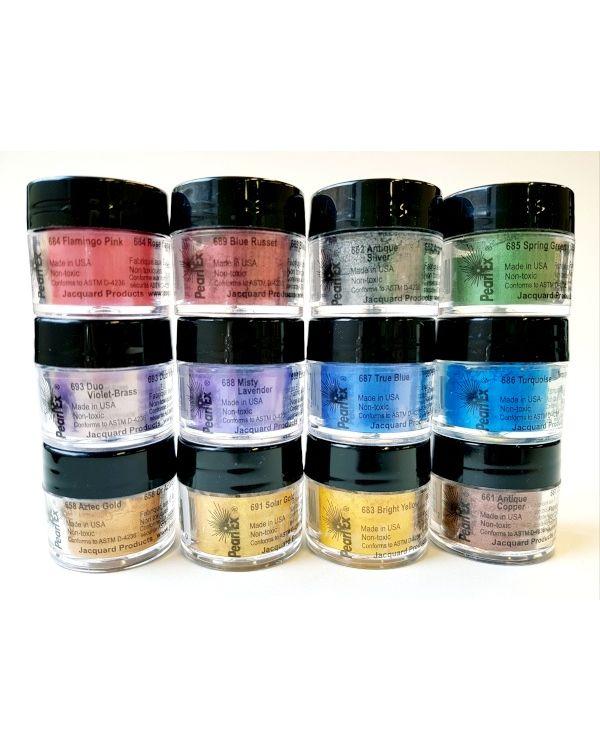 Pearlex Powder Pigment Series 2 set of 12 x 3g - Jacquard